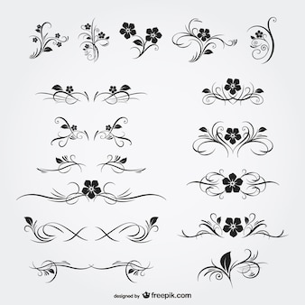 Ornamento florais gráficos livres