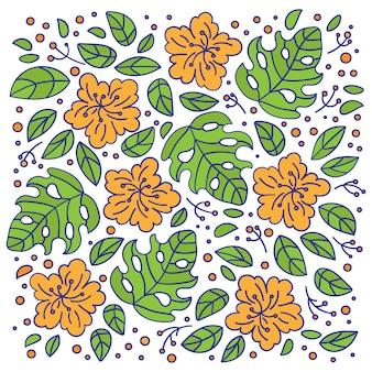 Ornamento floral da natureza do ramalhete tropical