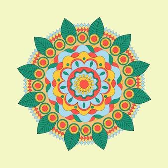 Ornamento floral indiano bonito pode ser usado como um cartão de saudação