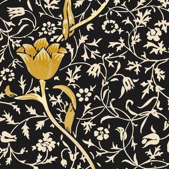 Ornamento floral sem costura de fundo