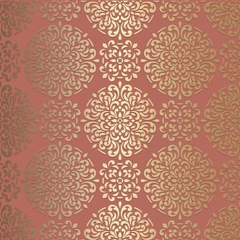 Ornamento floral vintage abstrato