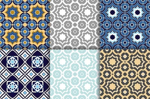 Ornamento geométrico árabe de padrões sem emenda