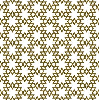 Ornamento geométrico árabe sem costura na cor marrom.