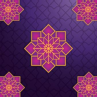 Ornamento geométrico árabe