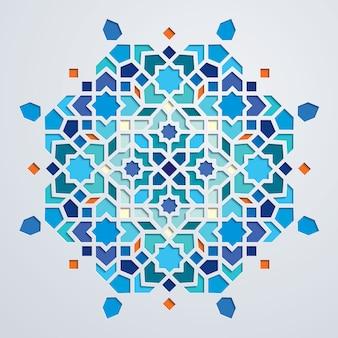 Ornamento geométrico colorido de marrocos