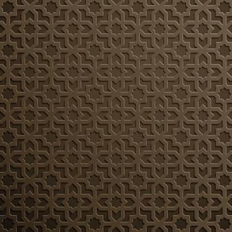 Ornamento geométrico de design de padrão de marrocos