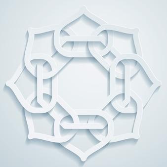 Ornamento geométrico padrão árabe