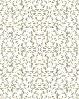 Ornamento geométrico sem costura com base na arte islâmica tradicional. grande design para tecido, matéria têxtil, capa, papel de embrulho, plano de fundo. linhas com contornos.