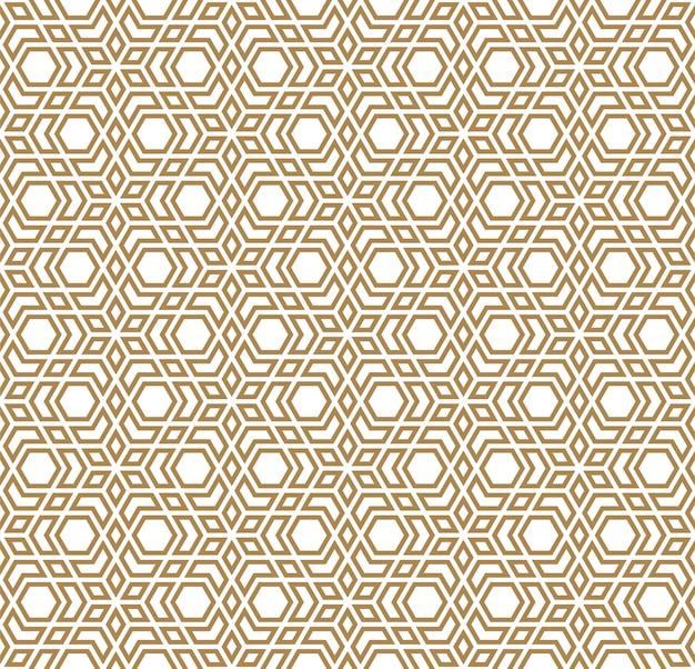 Ornamento geométrico sem emenda baseado na arte árabe tradicional. mosaico muçulmano. linhas de cor marrom
