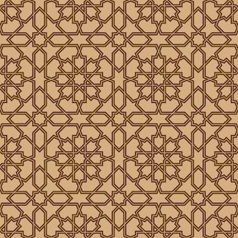 Ornamento geométrico sem emenda baseado na arte árabe tradicional.