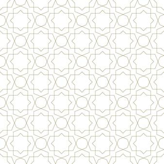 Ornamento geométrico sem emenda com base na arte islâmica tradicional. linhas de cor laranja. grande design para tecido, matéria têxtil, capa, papel de embrulho, plano de fundo.