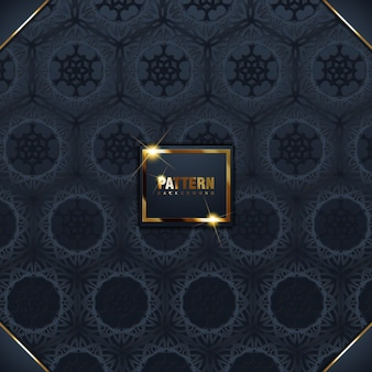 Ornamento islâmico 3d ramadan islâmico redondo padrão