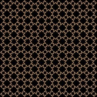 Ornamento islâmico geométrico com estrelas