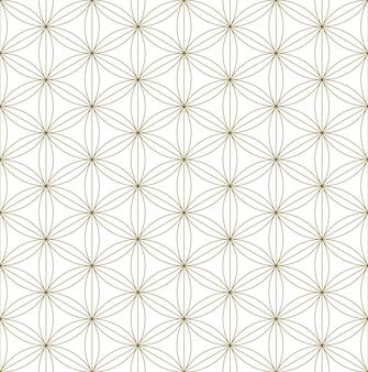 Ornamento japonês tradicional sem costura kumiko.golden linhas de cores.