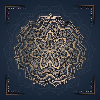 Ornamento mandala background para convite de casamento