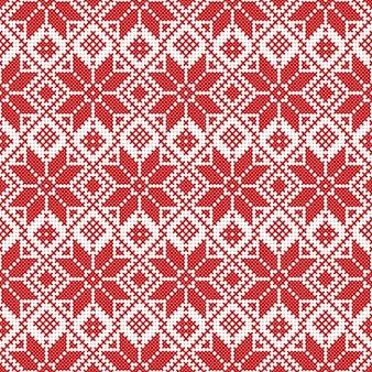 Ornamento nacional da bielorrússia de branco e vermelho de vetor. padrão étnico eslavo. bordado, ponto cruz