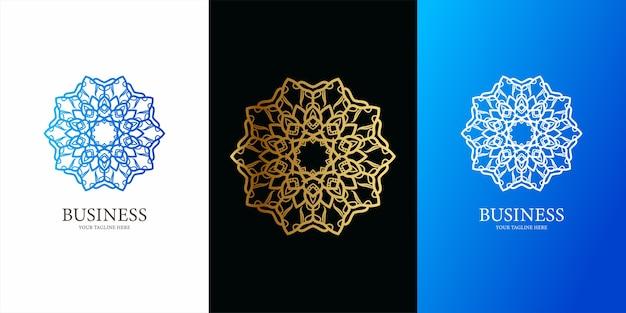 Ornamento ou design de modelo de logotipo de mandala. design de modelo de logotipo ent
