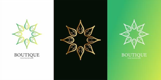 Ornamento ou design de modelo de logotipo de mandala.