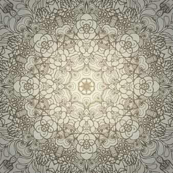 Ornamento redondo abstrato de vetor