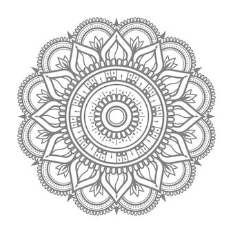 Ornamento redondo contorno mandala