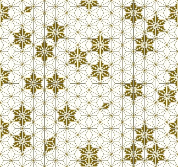 Ornamento tradicional japonês sem costura kumiko.golden linhas de cores.