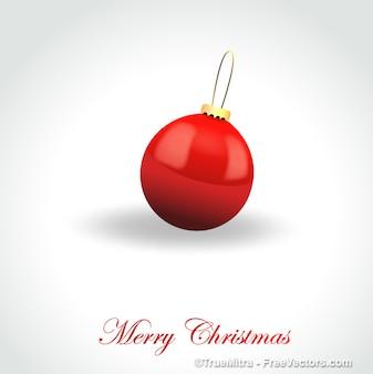 Ornamento vermelho do natal