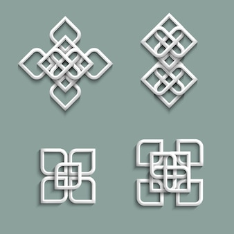 Ornamentos 3d em estilo árabe