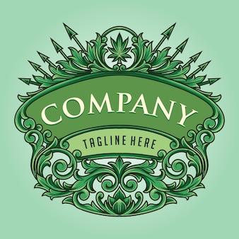 Ornamentos clássicos de emblema para negócios da empresa