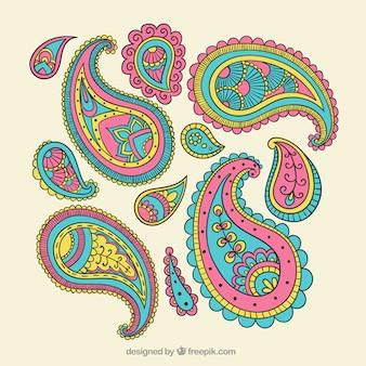 Ornamentos coloridos paisley