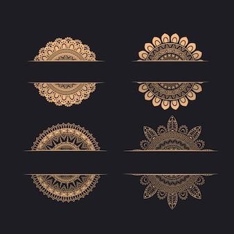 Ornamentos de convite de casamento de luxo