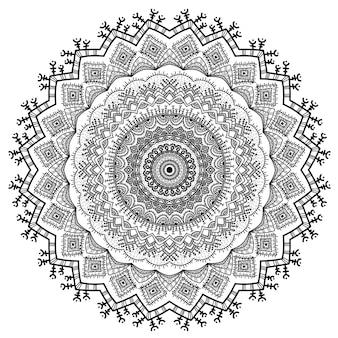 Ornamentos de mandala de natureza vetorial.