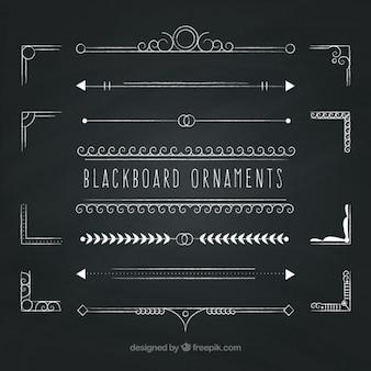 Ornamentos quadro-negro