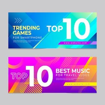 Os 10 melhores banners de classificação