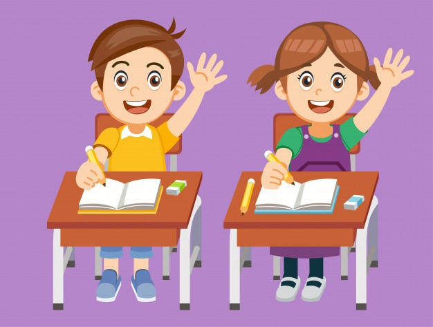 Os alunos têm perguntas a fazer em aula.