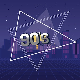 Os anos 90 para sempre conceito