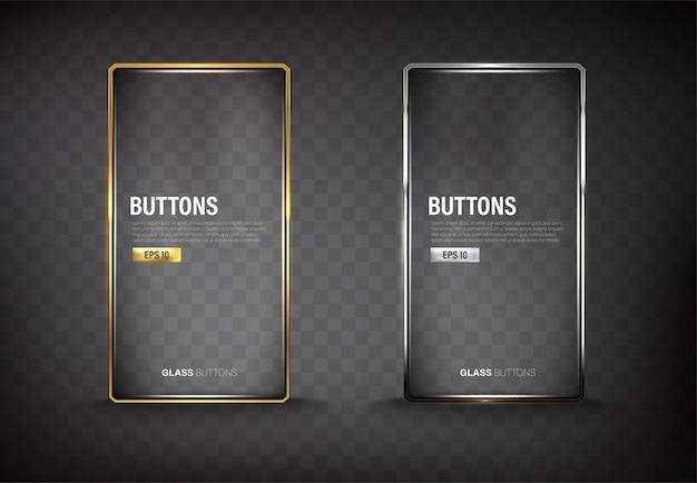 Os botões definem o aço da web na cor de fundo preta 13