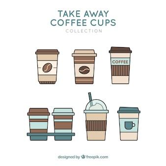 Os copos de café para tirar