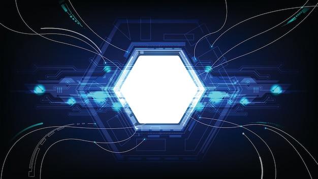 Os dados abstratos da tecnologia conectam o fundo
