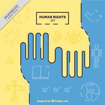 Os direitos humanos fundo do dia