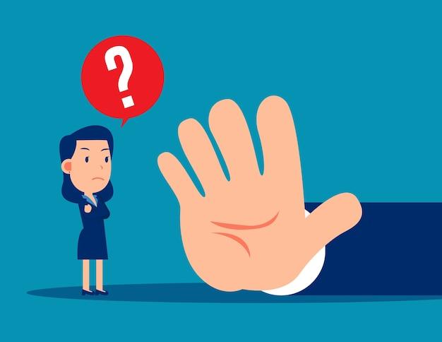 Os empresários estão proibidos. conceito de gesto de parada