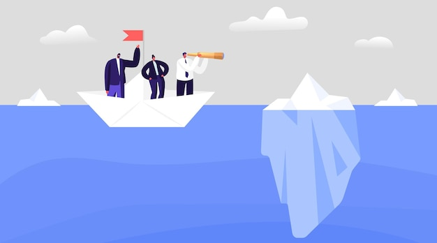Os executivos evitam perigos ocultos, crises e falências. conceito de risco perigoso