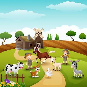 Os funcionários do zoológico estão mantendo animais na fazenda