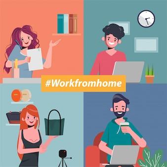 Os funcionários estão trabalhando em casa para evitar a disseminação do coronavírus.