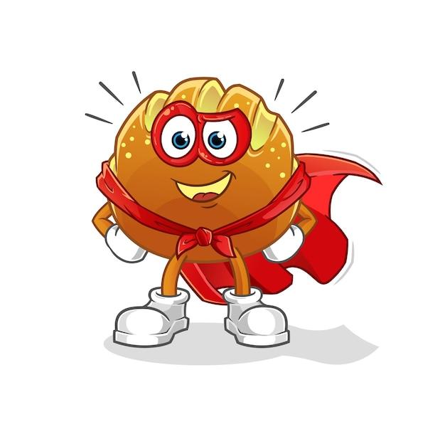 Os heróis do pão. mascote dos desenhos animados mascote dos desenhos animados
