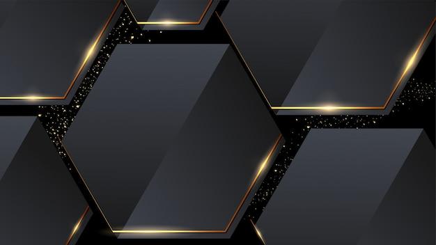 Os hexágonos geométricos abstraem o fundo do teste padrão.