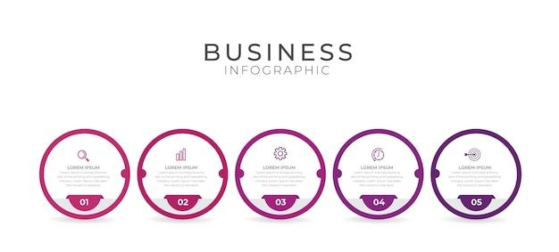 Os infográficos podem ser usados para layout de fluxo de trabalho, diagrama, relatório anual e design de web.