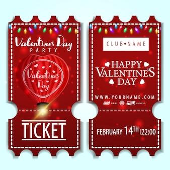 Os ingressos vermelhos para a festa