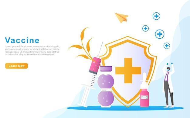 Os médicos estão felizes porque o processo de vacinação conseguiu matar doenças por meio do conceito de vacina injetável.