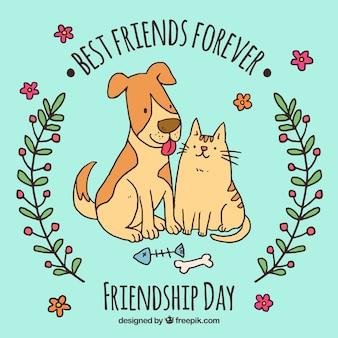 Os melhores amigos para sempre design de animais de estimação de fundo