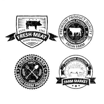 Os modelos de logotipo do agricultor